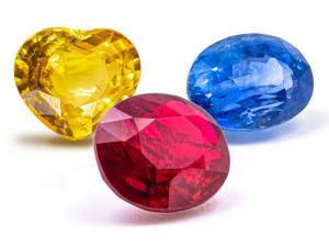 Korunde: Rubin, Blausaphir, Gelbsaphir